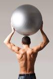 Indivíduo com esfera Foto de Stock