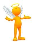 indivíduo 3d: Angel Standing na oração Fotografia de Stock Royalty Free