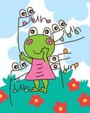 Individu de fille de grenouille beaucoup amusement Images stock