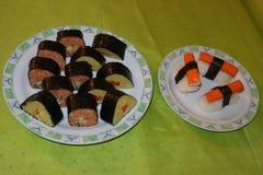 Individu fait, sushi-Maki photos stock