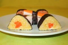 Individu fait, sushi-Maki photographie stock libre de droits