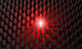 Individu & x28; symbolische cijfers van people& x29; Het duidelijk uitkomen van C Stock Foto