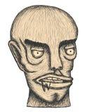Individual. Hand drawn individual head of man vector illustration