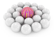 Individual 3d. 3d individual, out from the crowd vector illustration