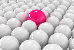 Individual 3d red ball Royalty Free Stock Photo