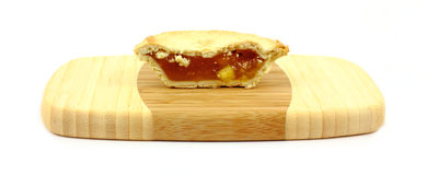 Individual Apple Pie Halved Royalty Free Stock Photo