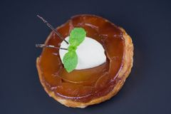 Individual apple tart Tatin Stock Photography