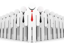 Individual business leader in team flow group Stock Photos