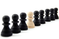 Individual chess people Royalty Free Stock Image