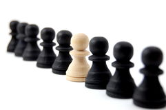 Individual chess people Royalty Free Stock Images