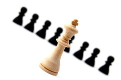 Individual chess people Stock Photos