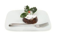 Individual Christmas pudding Royalty Free Stock Photography