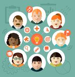 Individual diversity graphics Stock Photos