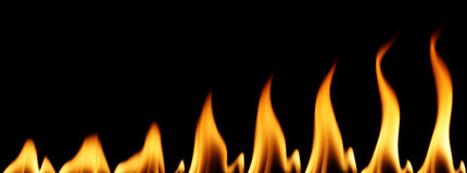 Individual flames Royalty Free Stock Images