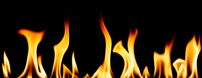 Individual flames Royalty Free Stock Photography