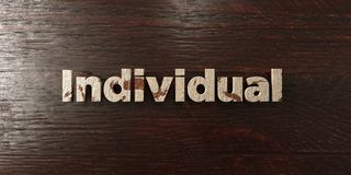 Individual - grungy wooden headline on Maple  - 3D rendered royalty free stock image Royalty Free Stock Images