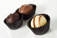 Individual handmade chocolates Royalty Free Stock Image