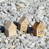 Individual house building Stock Photography