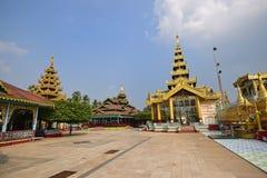 Individual house of worship of Shwemawdaw Pagoda at Bago, Myanmar Stock Photo