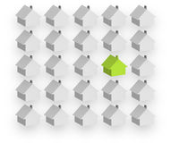 Individual housebuilding Stock Images