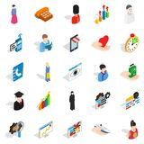 Individual icons set, isometric style. Individual icons set. Isometric set of 25 individual vector icons for web isolated on white background Stock Images