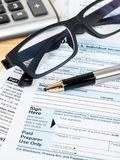 Individual income tax return form by IRS, concept for taxation.  royalty free stock photo
