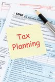 Individual income tax return form by IRS, concept for taxation planning.  royalty free stock photos