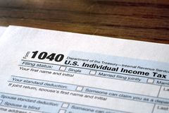 Individual Income Taxes 1040 Form. Individual Income Taxes Forms Tax 1040 stock photography