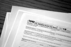 Individual Income Taxes 1040 Form. Individual Income Taxes Forms Tax 1040 royalty free stock photography
