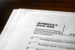 Individual Income Taxes Schedule C royalty free stock photos