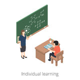 Individual learning. 3d isometric illustration. Isolated on white background Royalty Free Stock Photos