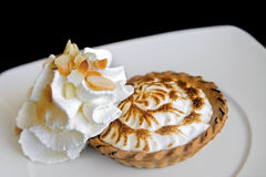 Individual lemon cream pie Stock Photo