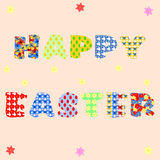 Individual letters of Happy Easter in different patterns Royalty Free Stock Images