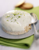 Individual  lime cheesecake Stock Image