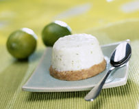 Individual lime cheesecake Royalty Free Stock Photos