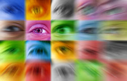 Individual - olho humano foto de stock