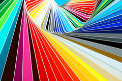 Individual palettes. Bright individual palettes closeup, background Stock Photo