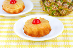 Individual Pineapple Upside Down Cakes Stock Images