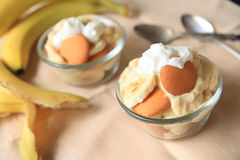 Individual portions of banana pudding Stock Photography