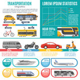 Individual And Public Transport Infographics Royalty Free Stock Images