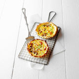 Individual Quiche Pies Made with Mushrooms Royalty Free Stock Photos