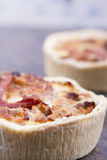 Individual quiche Stock Photography