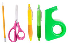 Individual school supplies Stock Photography