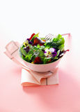 Individual serving of fresh herb salad Royalty Free Stock Images