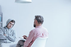 Individual session with therapist Stock Images