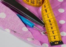 Individual sewing tools Royalty Free Stock Images