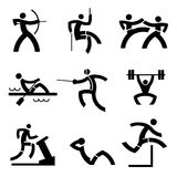Individual Sport icons. Stock Images