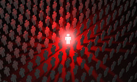 Individual (symbolic figures of people). Standing Out from the C Stock Photo