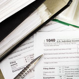 Individual tax form 1040 Royalty Free Stock Photography