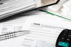 Individual tax form 1040 Royalty Free Stock Image
